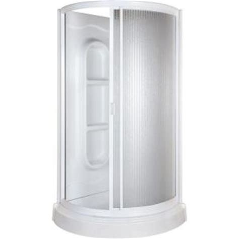 Standing Shower Home Depot 38 In X 38 In X 78 In Shower Kit In White 455000 The