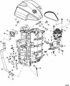 mercury marine 115 hp efi 4 stroke alternator starboard cylinder block components parts