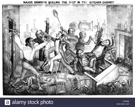 Andrew Jackson Kitchen Cabinet Andrew Jackson N Major Downing Queling The Riot In The Stock Photo Royalty Free Image
