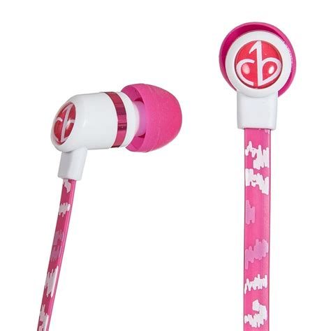 Chicbuds Arts Earbuds With Microphone Leandra chicbuds arts earbuds with microphone pink shock