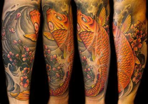 koi fish arm tattoo color koi fish half sleeve tattoos 5471663