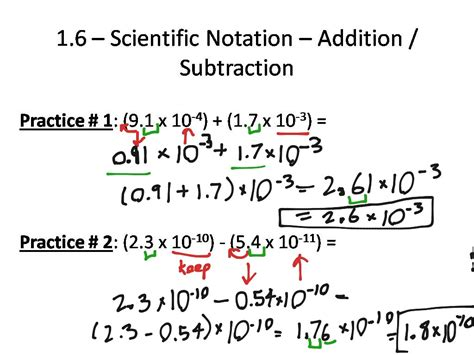 Adding And Subtracting In Scientific Notation Worksheet by 100 Worksheets Scientific Notation Worksheet