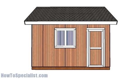 14x14 Shed Plans by 14x14 Shed Plans Howtospecialist How To Build Step By