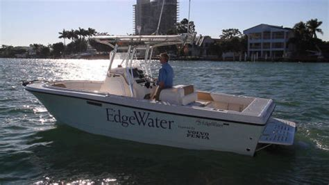 edge offshore boats edgewater 230d small sterndrive diesel powered center