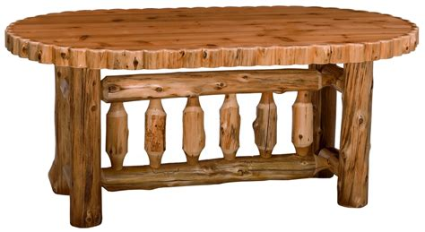 half log trimmed cedar log dining set minnesota log