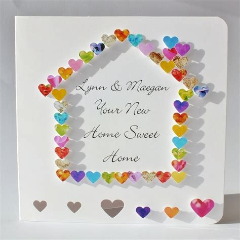 Welcome Handmade Cards - handmade 3d new home card personalised welcome to your