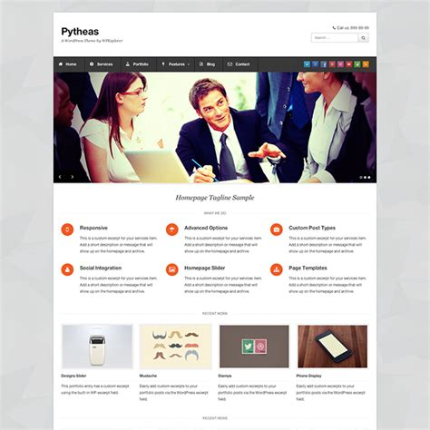 pytheas free business wordpress theme templates perfect