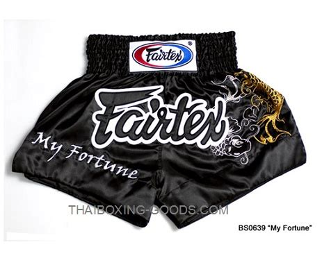 Fairtex Boxing My Fortune Bs0639 Black fairtex my fortune black heavy satin muay thai boxing shorts bs0639 is made in thailand in heavy