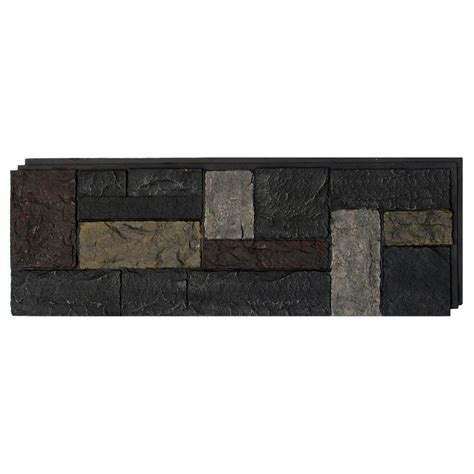 shop nextstone castle rock 16 12 sq ft ashford charcoal