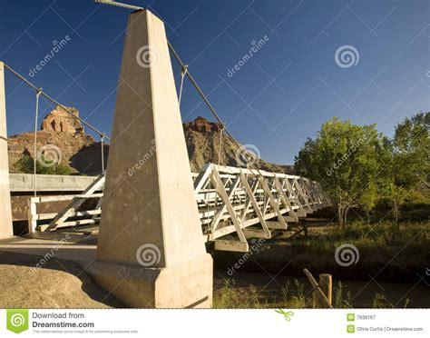 swinging bridge utah swinging bridge royalty free stock photography image