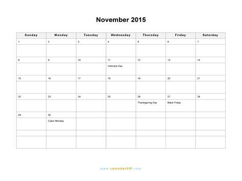 printable calendar november 2015 word november 2015 calendar blank printable calendar template