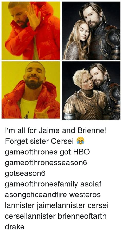jaime drake t冫 i m all for jaime and brienne forget sister cersei