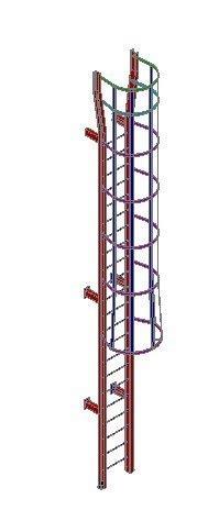 catwalk ladder  steel structures dwg block  autocad