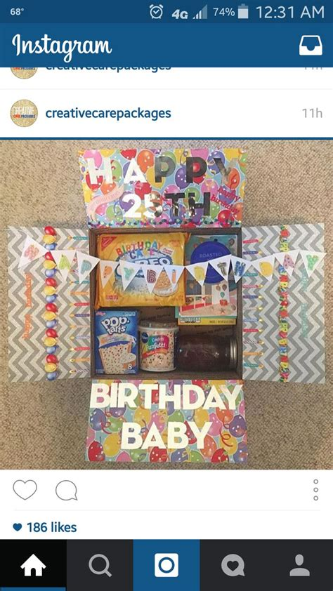 Gift Card Package Ideas - best 25 birthday care packages ideas on pinterest birthday box deployment care