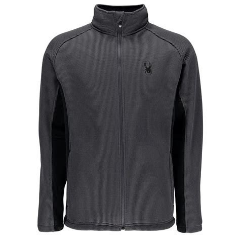 Jaket Sweater spyder foremost zip heavy weight sweater jacket