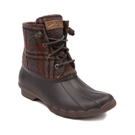 womens sperry boots womens sperry top sider saltwater boot brown 583742