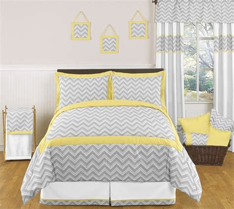 yellow chevron bedding yellow and gray chevron zig zag childrens kids teen