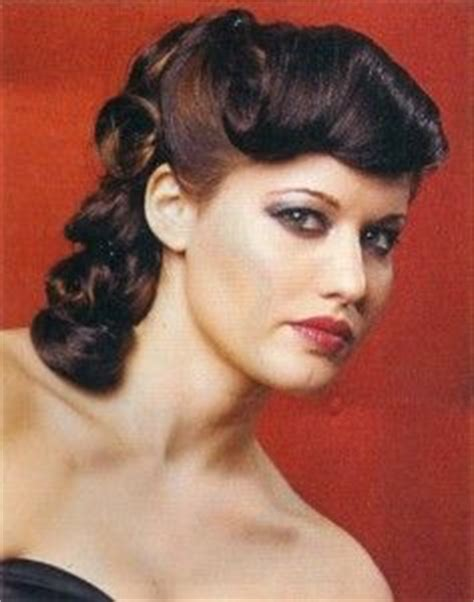 1950 hair styles with bangs 1950 s inspired vintage pin curled hairstyle very elegant