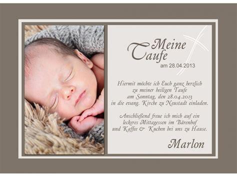 Karten Einladung by Einladungskarten Taufe In Braun