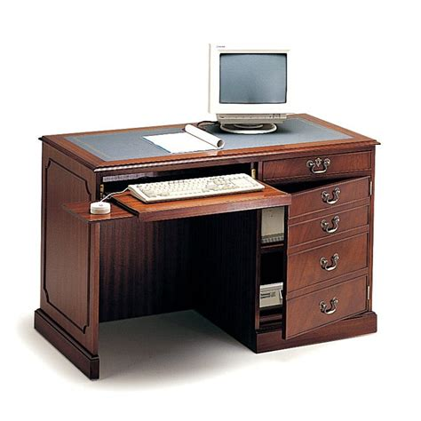 executive traditional handmade small computer desk