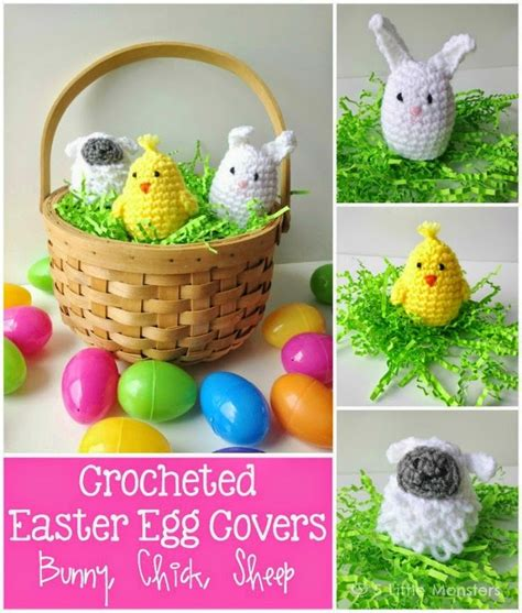 easter egg knitted covers crocheted easter egg covers bunny and sheep free