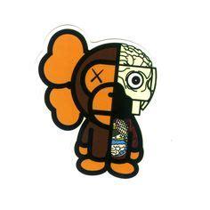 Bape Monkey Sticker