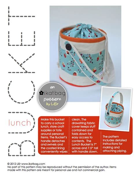 lunch tote bag pattern free 25 best ideas about lunch bag patterns on pinterest diy