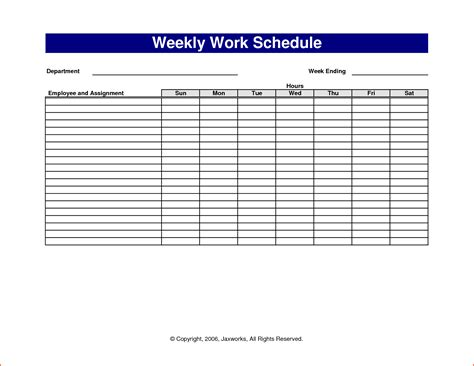 search results for sle weekly schedule template