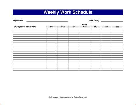 weekly work schedule template excel 6 weekly work schedule template excel budget template