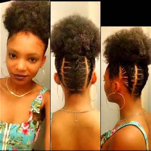 black american hair style corn row based personalize your afro puff elastic cornrows youtube