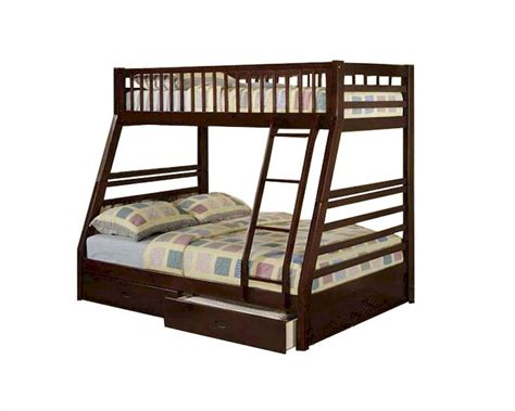 acme bunk beds acme furniture twin over full bunk bed in espresso jason