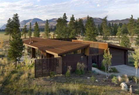 Balance Associates Architects The Method Cabin by Wolf Creek View Cabin Treads Lightly On The Foothills Of