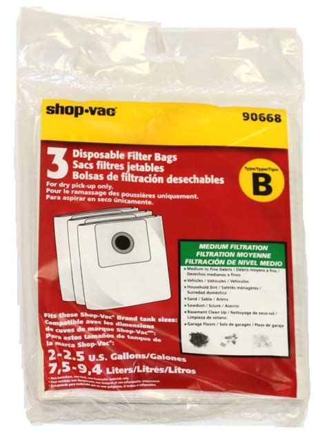 all around vacuum cleaner shop vac all around type b bags 9066800 onlinevacshop