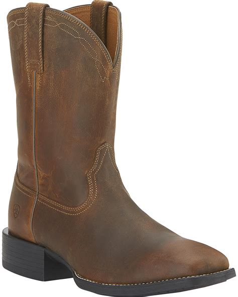 roper boots ariat s heritage roper boots wide square toe