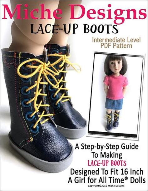 a for all time doll patterns miche designs lace up boots doll clothes pattern 16 inch a