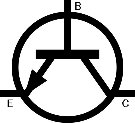 simbol transistor bjt simbol transistor clipart best
