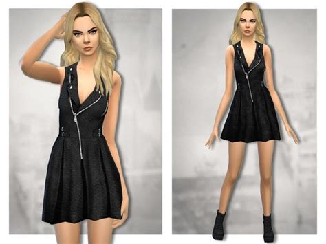 Hq 18163 Asymmetric Sleeve Dress 168 best images about sims4 clothes for on