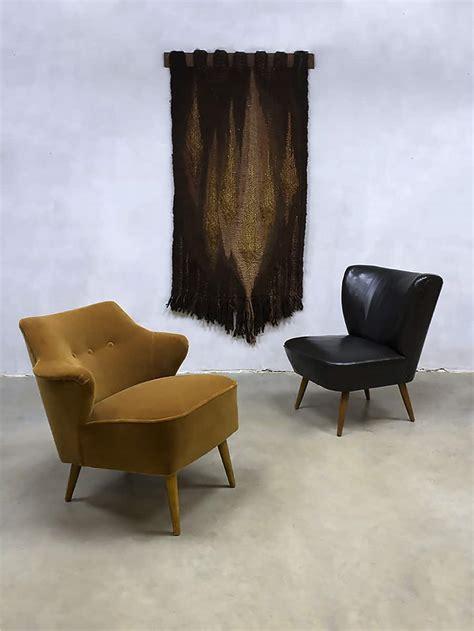 fauteuil sixties velours vintage cocktail stoel chair velvet clubfauteuil fifties