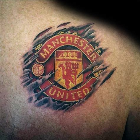 manchester united tattoo 40 manchester united designs for soccer ideas