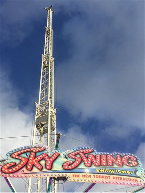 winter wonderland swing wind closes sky swing again at cardiff winter wonderland