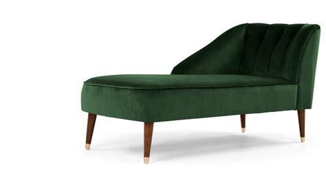 green velvet chaise lounge margot left hand facing chaise forrest green velvet