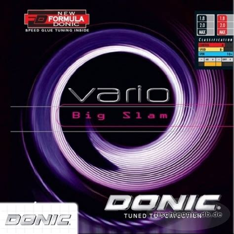 Donic Desto F3 Big Slam 1 donic vario big slam tischtennis db de