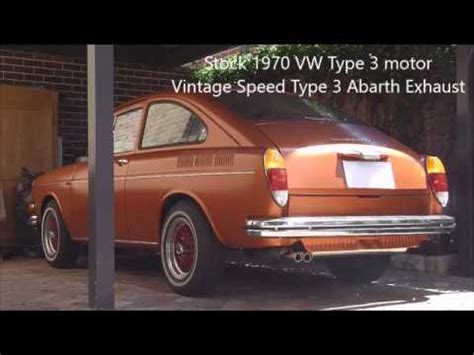 vintage speed vw type 3 abarth exhaust compared to type 4