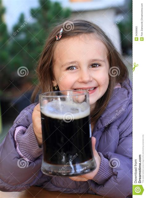 kid hodling drink stock  image
