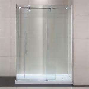sliding frameless shower doors schon sc70019 lindsay frameless sliding glass shower door