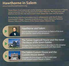 nathaniel hawthorne biography dvd front cover of the hawthorne in salem dvd
