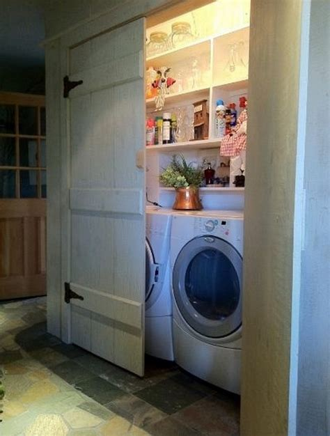 Laundry Closet Door Ideas 40 Super Clever Laundry Room Storage Ideas Home Design