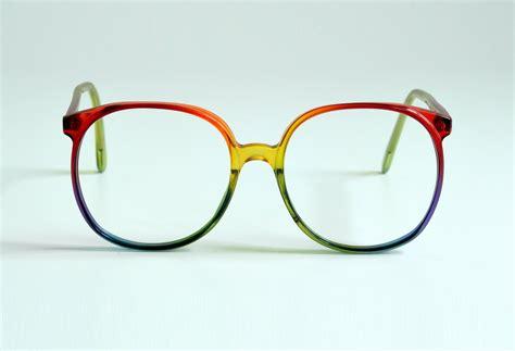 colorful eyeglasses 80s oversized rainbow glasses plastic eyeglasses frames