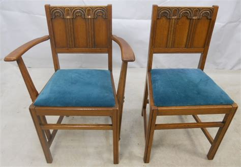 Ercol Armchair by Ercol Set Of Six Light Elm Dining Chairs