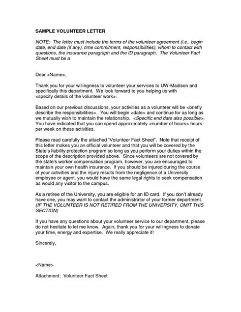 charity commitment letter letter volunteer sle dfwhailrepaircomvolunteer work on